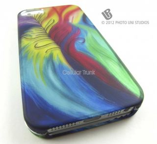 BIZARRE PEACOCK TAIL Hard Snap On Case Cover For Apple iPhone 5 Phone