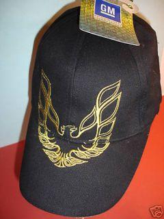 50 Pontiac Trans Am Hats Cap GM Black Gold RARE Eagle