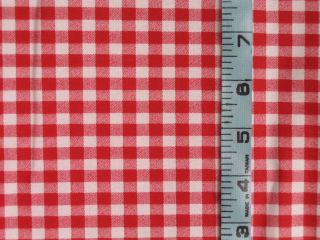 COUNTRY KITCHEN PRIMITIVE CURTAIN VALANCE RED WHITE CHECK NEW