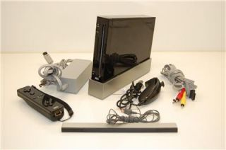 nintendo wii game system console black