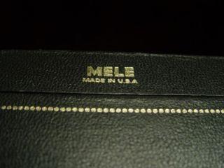 old mele black gold jewelry box leather velvet satin