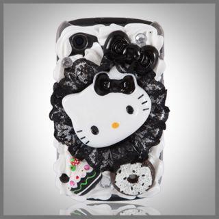 Bling Hello Kitty Cake Case Cover Blackberry 8520 Curve