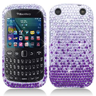 Purple Bling Diamond Hard Case Cover BlackBerry Curve 9220 9310 9320