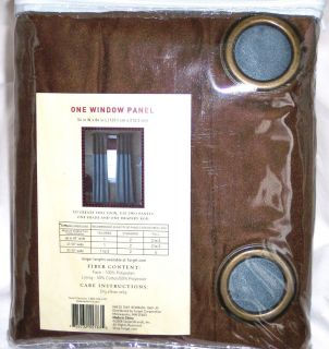 Woolrich Lined Grommet Window Panel 54 x 84 Brown Blue NIP