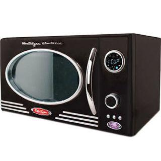 Retro Black Countertop Microwave Oven College Dorm Small Office Home