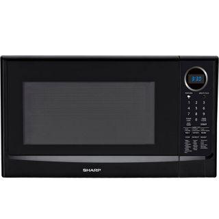 Sharp 1100 Watt Countertop Microwave Oven, Black Digital Cooker w