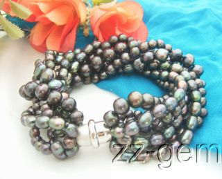 Water cultured pearl, round, rice and fancy black pearl, high luster