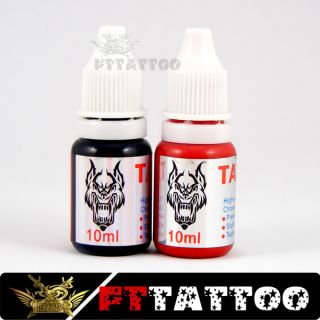 Mini Tattoo Kit Power Supply Super Tattoo Gun Black Red Tattoo Ink