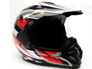 TMS Adult Red Black Dirt Bike Motocross Off Road ATV MX Helmet s M L