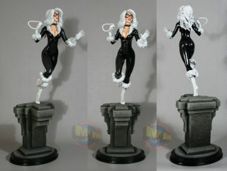 Black Cat Retro Full Size Painted Statue from Bowen Designs.