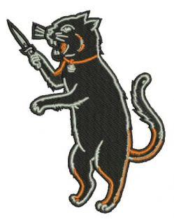 Black Cat Fink Iron On Patch Kustom Kulture Something Weird rat Odd