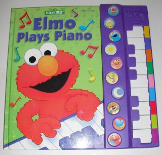 Elmo Plays The Piano Childrens Board Book