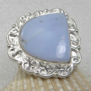 blue lace agate silver plated ring jewelry 6 75