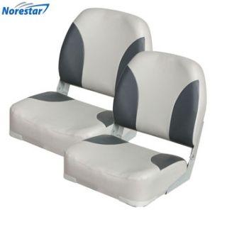 Deluxe Heavy Duty Folding Boat Seats Gray Charcoal Extra Large