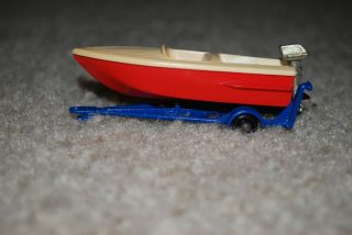 Matchbox Lesney Power Boat with Trailer