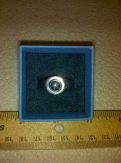 Blue Star Sapphire Mens Pinky Ring