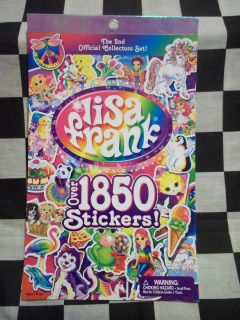 2nd official collectors set lisa frank sticker book 1850 stickers new