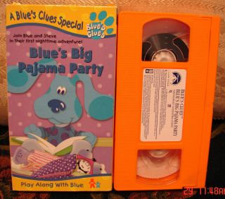 Blues Clues Big Pajama Party Vhs Blues Educational 3 ships 1 5 UNLIMIT