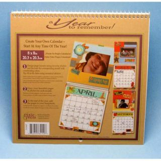 Blank Scrapbooking 12 Month Calendar Pages Kit 8 x 8