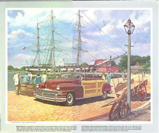 Town Country Humble Oil Esso Calendar Sheet by Harry Anderson