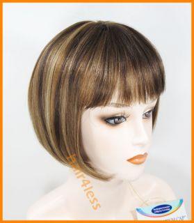 100 Human Hair Bob Straight Full Wig H280