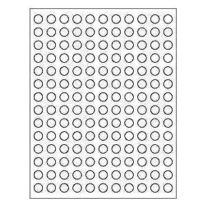 Sheets 1 2 in Round Blank White Stickers Labels Custom Tiny Mini