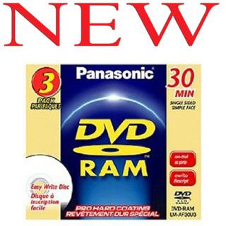Panasonic Mini Blank DVD RAM Disks for Camcorders 3Pack