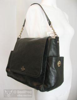 NWT KATE SPADE Litchfield Talise Flap Leather Hobo Bag Purse Black