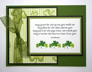 Handmade Card Irish Blessing St Patricks Day Love