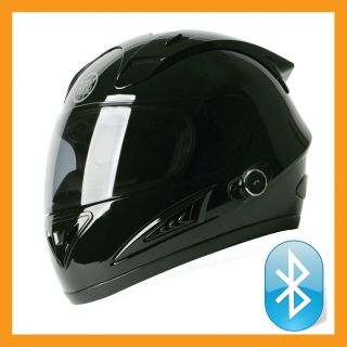 Torc Prodity T10B Full Face Bluetooth Blinc Motorcycle Helmet Glossy