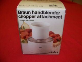 braun stick blender bur mixer attachment chopper set