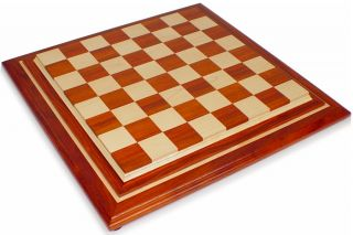 African Paduak & Maple Chess Board   2.5 Squares