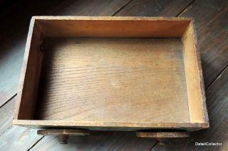 Antique Tiger Maple DOLL BED Mirror Salesman Sample? Miniature Wood