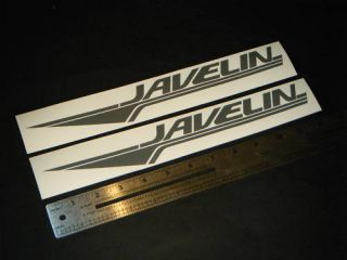 Javelin Boats Silver Decal 12 Stickers Pair