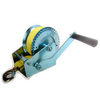 2000 lb Hand Winch Hook Boat Trailer Heavy Duty Strap