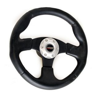 Tracker 13 1 4 inch Black Vinyl Boat Steering Wheel w Hub