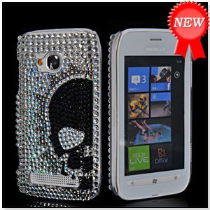 Bling Rhinestone Crystal Case Cover Screen Protector for Nokia Lumia