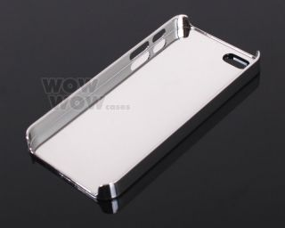 Silver Bling Chrome Hard Snap Case Cover for iPhone 5 5g