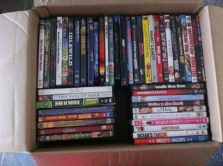 Lot of 47 DVDs w cases Personal Collection Blockbuster Mint True Blood