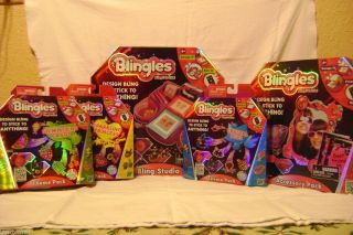 NEW Blingles Bling Studio Accessory Pack 3 Theme Packs ALL NIB
