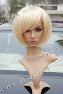 Beautiful Fashion New Short Platinum Blonde Bob Wigs