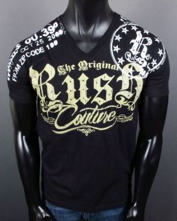 Mens Rush Couture T Shirt Collective with Studs Jersey Shore