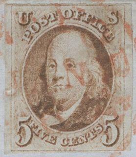 1847 5c Single on Folded Cover NYC to Philadelphia