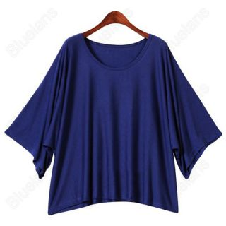 New Casual Short Sleeve Bat Tops Blouses Womens Loose T Shirts Vest 2