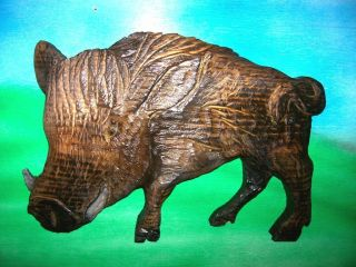 Chainsaw Carving Russian Boar Hog Carved Arkansas Razorback Replica