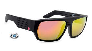 New Spy Blok Sunglasses Matte Black Frame Multi Layer Mirror Lens