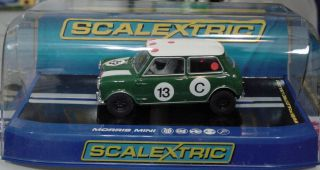 Scalextric 1:32 Scale Analog Slot Car Morris Mini   Bob Holden Racing