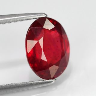 64ct 9x7mm Oval Dazzling Deep Pigeon Blood Red Ruby Madagascar