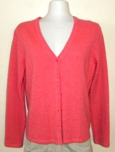 NOW 100% Cashmere Pink Womens Cardigan Size S