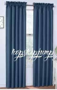 42 x 84 Panel Blackout Drape Curtain Color Denim Blue NIP